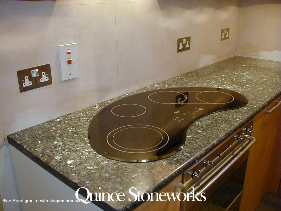 Blue Pearl granite with shaped hob cutout