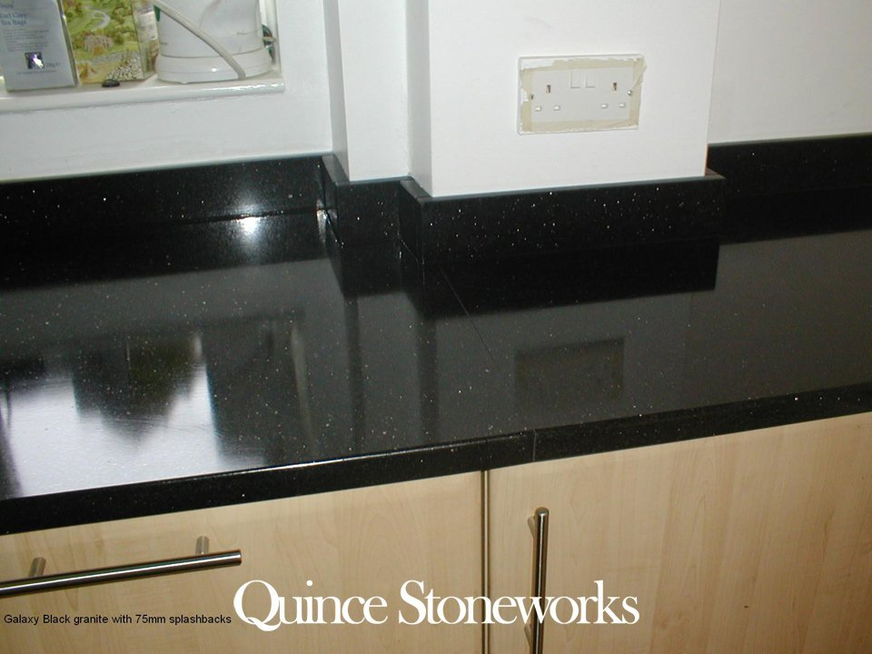 Galaxy Black granite with 75mm splashbacks