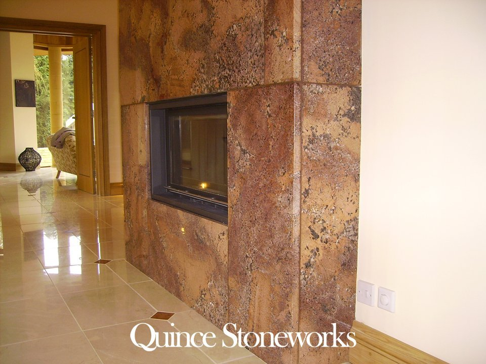 Juperana bordeaux fireplace
