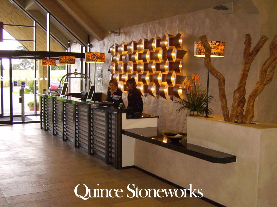 Reception work surfaces