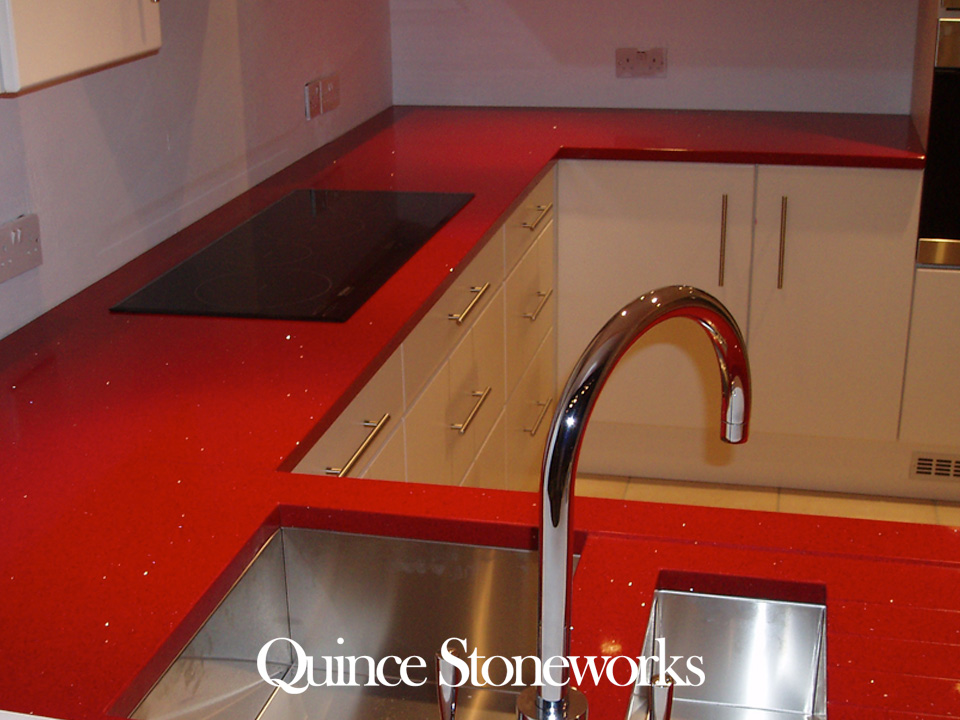 Ruby Reflections quatzstone worktop