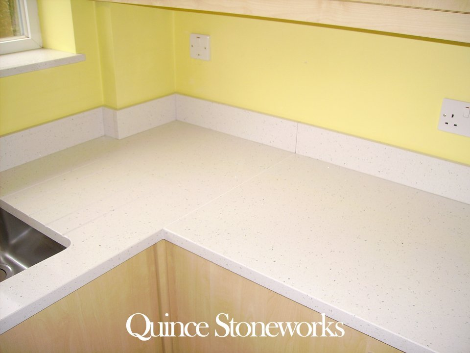 Quartz kitchen splashback