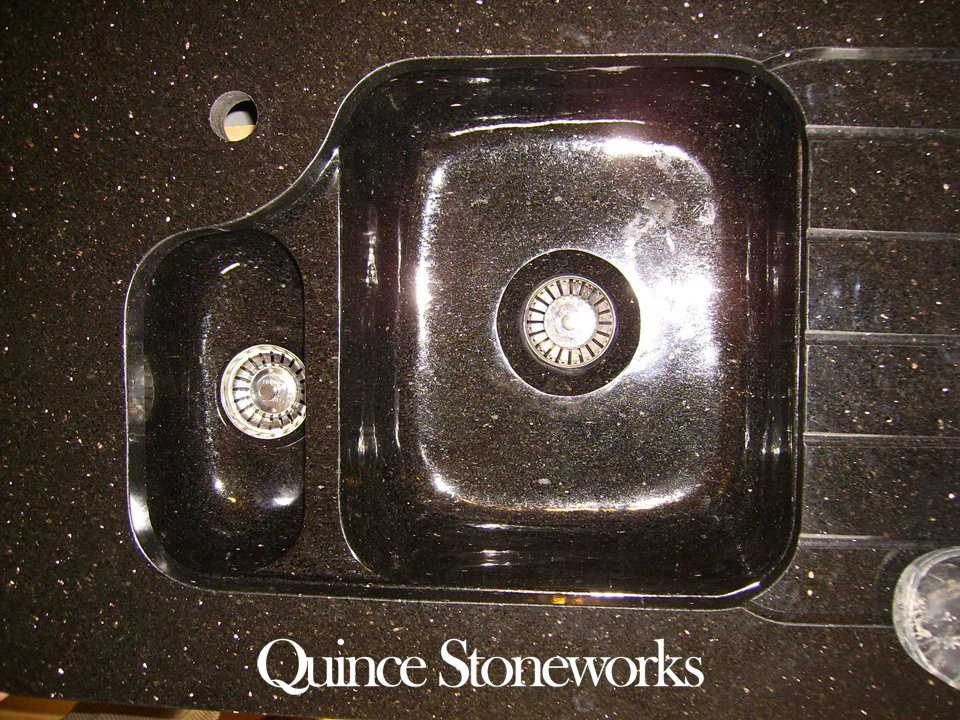 Star galaxy granite undermounted sink