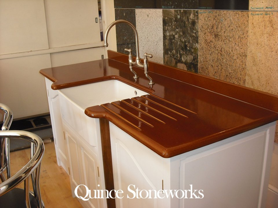 Toffee brown lavastone worktop