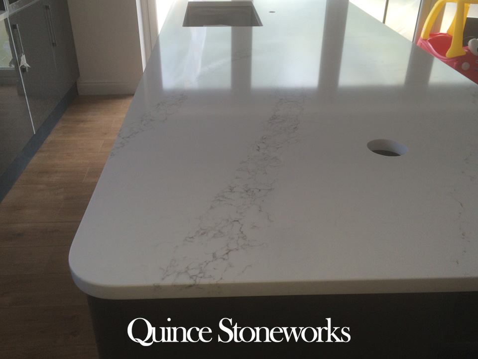 Unistone Bianco Statuario quartz worktop