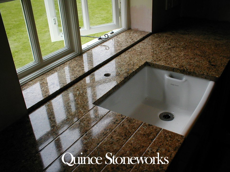 Venetian gold granite with raised window sill