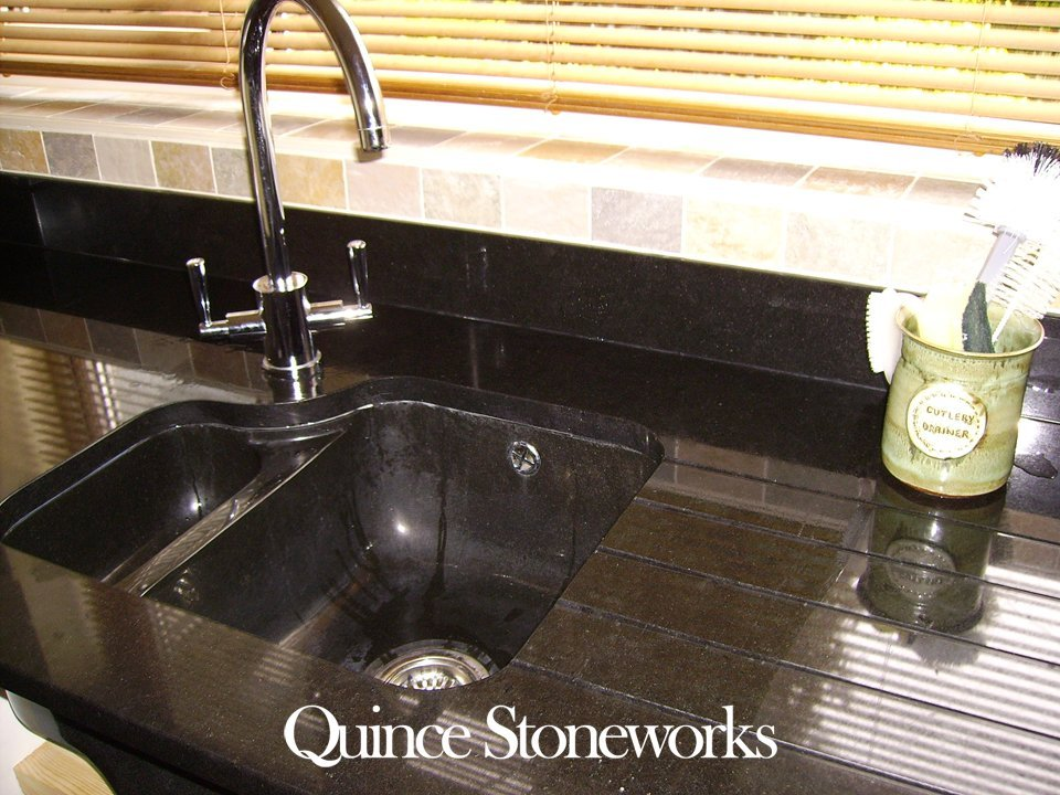 Zimbabwe black granite sink